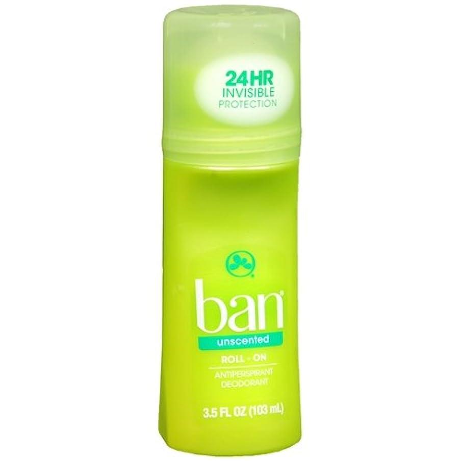 議論する前未知の海外直送品 【2個セット】Ban Roll-On Unscented Antiperspirant & Deodorant - 3.5 fl oz (103 ml) 無香タイプ