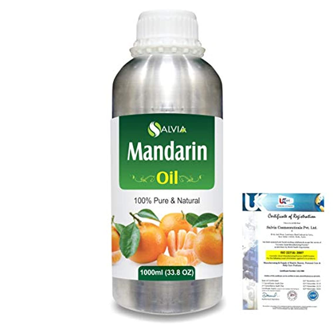 中央値フラップいっぱいMandarin (Citrus reticulata) 100% Natural Pure Essential Oil 1000ml/33.8fl.oz.