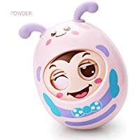 wanrane Cute Kids Roly - Polyおもちゃ面白い漫画セーフTeether Baby Kids Pram Pushchair Rattleタンブラー教育玩具装飾ギフト(イエロー)