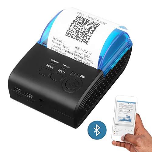 camking サーマルプリンタ 58mm Bluetoothプリンタ 便携式ミニパーソナルプリンタ iOS & Android システムに対応 小売印刷