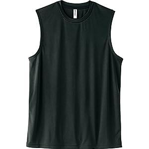 [グリマー] 袖無 3.5オンス インターロック ドライ ノースリーブ 00353-AIN ブラック LL (日本サイズLL相当)