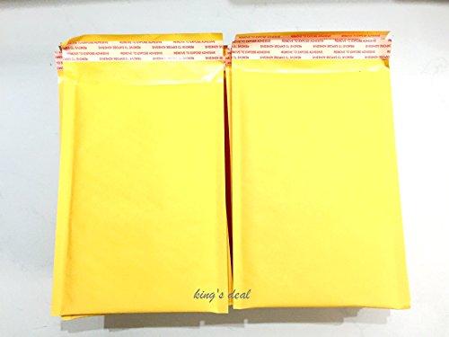 [해외]king `s deal 크래프트 버블 가방 하토론 봉투 거품 봉투 거품 봉투 부대 PE 거품 봉투 가방 휴대 전화 액세서리~ 전자 제품~ CD 보석 버블 가방 방수~ 내진성~ 개인 정보 보호 옐로우/king`s deal Kraft Bubble Bag Haton Paper Bubble Bubble Bubb...