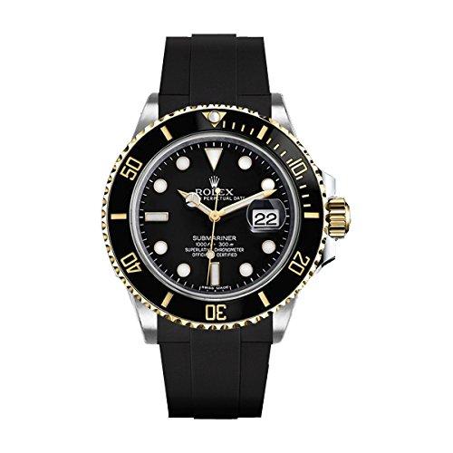 [ラバービー] RubberB ラバーベルト ROLEXサブマリーナ セラミック専用ラバーベルト(尾錠付き)(ブラック) [並行輸入] ※ラバーベルトのみの販売。時計は付属致しません。(Watch is not attached. Belt only)
