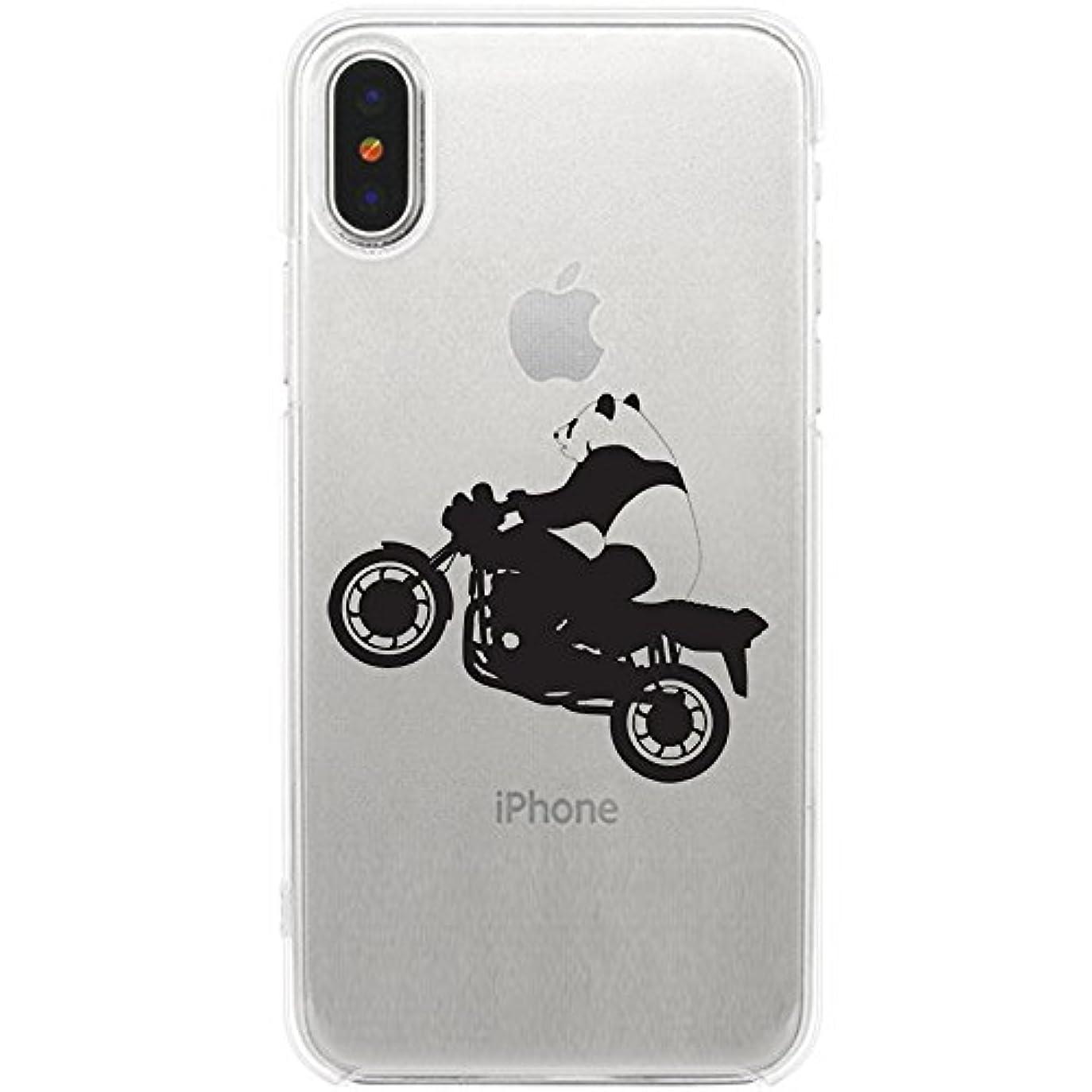 ブレーキ兵器庫星iPhone X ソフトケース TPU クリア パンダバイク 888-72262