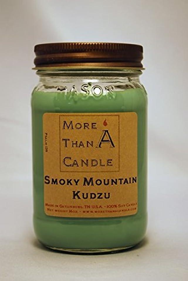 上記の頭と肩サイドボード感謝しているMore Than A Candle SMK16M 16 oz Mason Jar Soy Candle, Smoky Mountain Kudzu