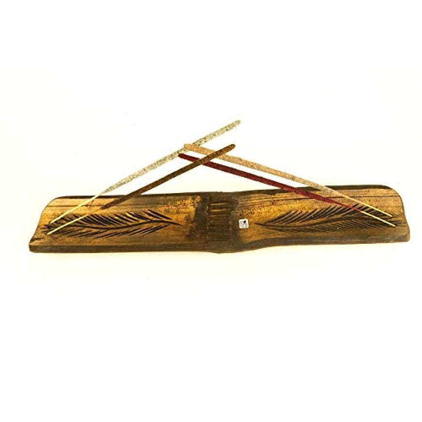 信仰シロナガスクジラ緊張Amae/Mynagold 大きな竹製お香ホルダー