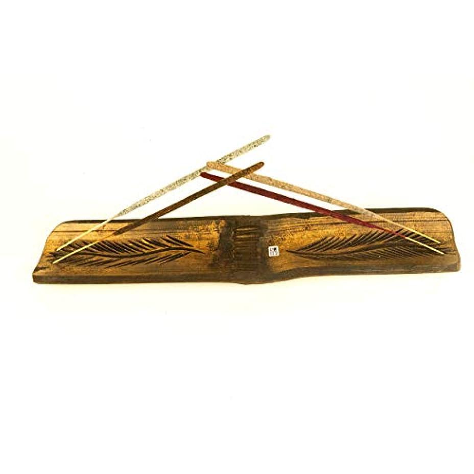 一晩精神的にプラスAmae/Mynagold 大きな竹製お香ホルダー