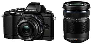 OLYMPUS OM-D E-M10 ダブルズームキット ブラック ミラーレス一眼 OM-D E-M10 DZKIT BLK