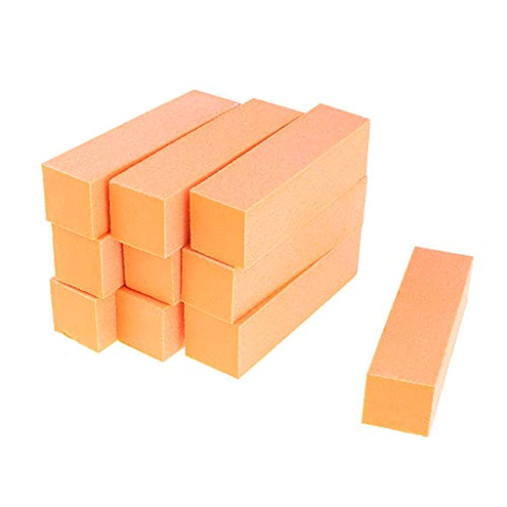 合法永遠に知覚できるInjoyo ネイルアート マニキュア ネイルファイル バッファファイルブロック 爪やすり 爪磨き 全5色 - オレンジ