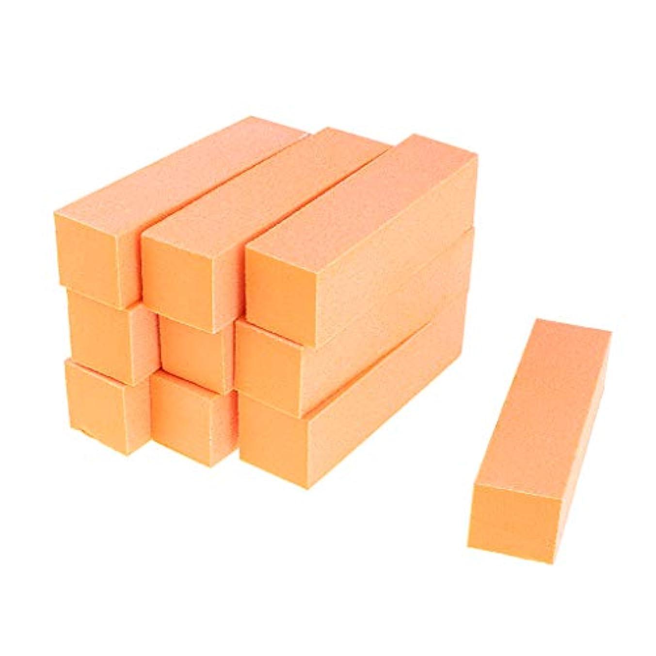 けがをする解き明かす冷えるInjoyo ネイルアート マニキュア ネイルファイル バッファファイルブロック 爪やすり 爪磨き 全5色 - オレンジ