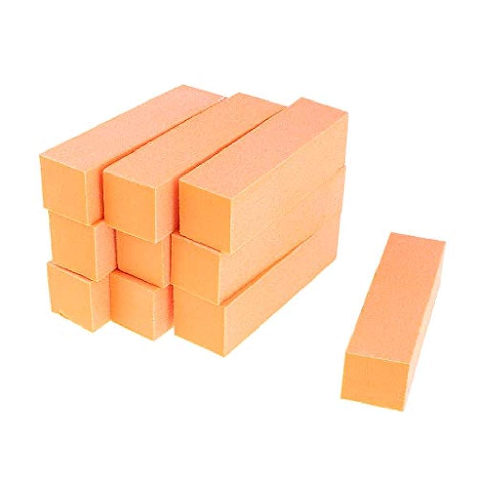 冒険三征服Injoyo ネイルアート マニキュア ネイルファイル バッファファイルブロック 爪やすり 爪磨き 全5色 - オレンジ