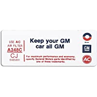 Eckler's Premier Quality Products 33-150434 カマロ エアクリーナー デカール 「Keep Your GM Car All GM」
