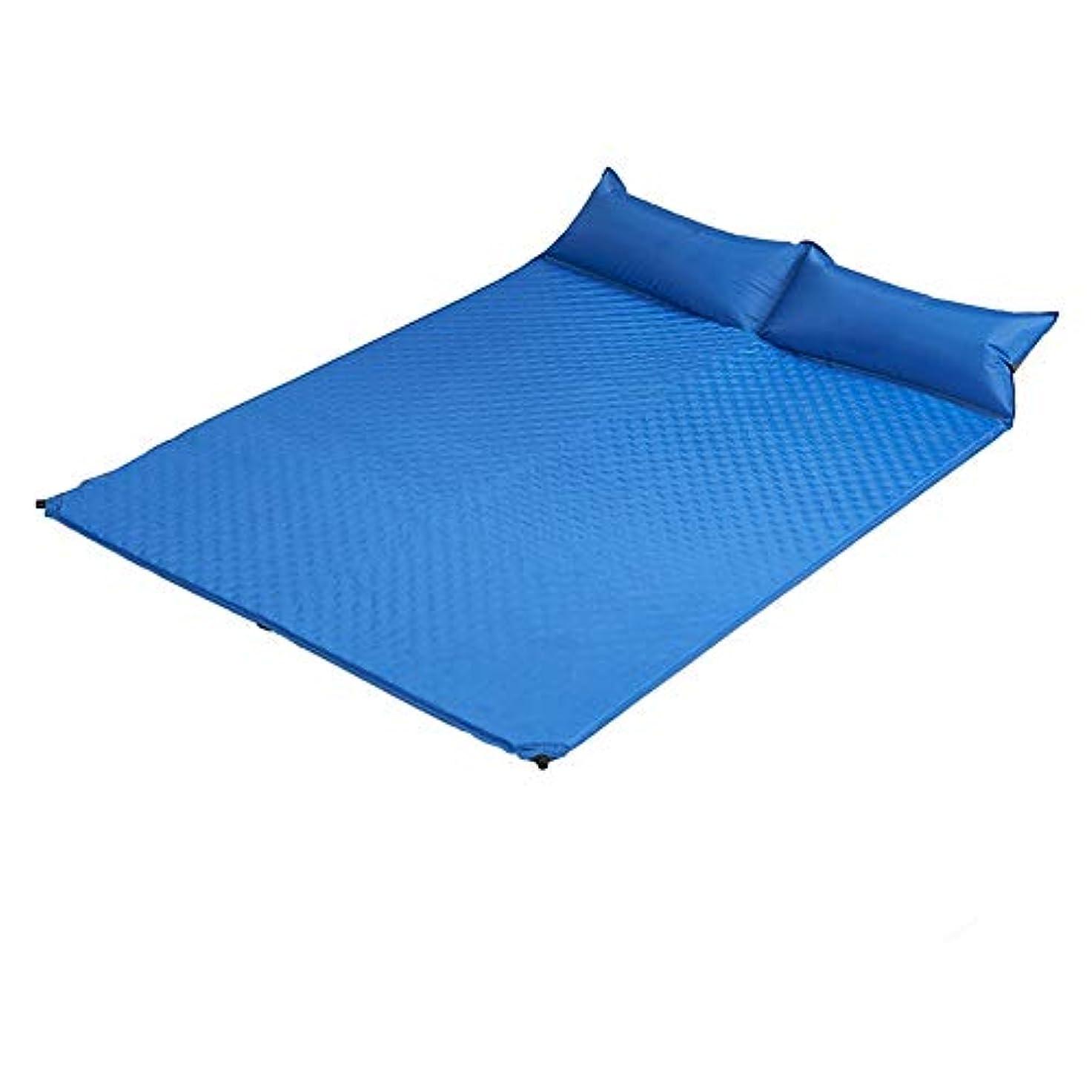 予備死幻想的寝袋マットレスキルトテント3シーズンキャンプブッシュ屋外屋外 自動インフレータブルキャンプテントスリーピングマット水分パッド厚いスポンジハニカムスポンジ2色オプション 個別の選択は完了しました (色 : 濃紺)