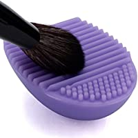 ノーブランド 化粧ブラシ クリーニング 手袋 メイクブラシクリーナー 洗濯板 シリコン 化粧筆清潔 雑貨 旅行 清掃ブラシ 可愛い 明るい ライトパープル