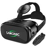 SAMONIC スマートグラス 3D VRゴーグル ゲーム 映画 動画4.0~6.5インチiPhone Androidスマホ対応「Bluetoothコントローラ、日本語説明書付属」