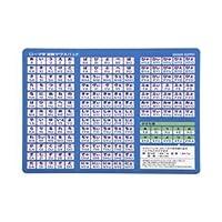 サンワサプライ ローマ字変換マウスパッド(A4サイズ) MPD-OP17RA4BL【×3セット】