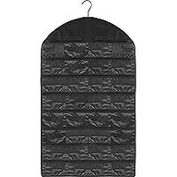 ハンギングジュエリーオーガナイザー、lucyworld 2 - Pack 32ポケット折りたたみ式表示デュアル側家庭用アクセサリーホルダーストレージバッグクローゼットストレージのイヤリングネックレスブレスレットリング