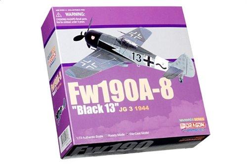 """1:72 ドラゴンモデルズ 戦闘機 50269 Focke-Wulf Fw 190A ダイキャスト モデル Luftwaffe JG-3 """"黒 13"""" Walter Dahl イースタン フロント 1"""