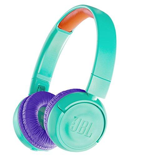 JBL JR300BT 子供向け Bluetoothヘッドホン 音量制御機能搭載/カスタマイズシール付属 ティール/パープル J...