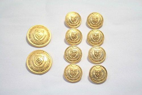 メタルボタンI-03ゴールド20mm2個15mm8個セットス...
