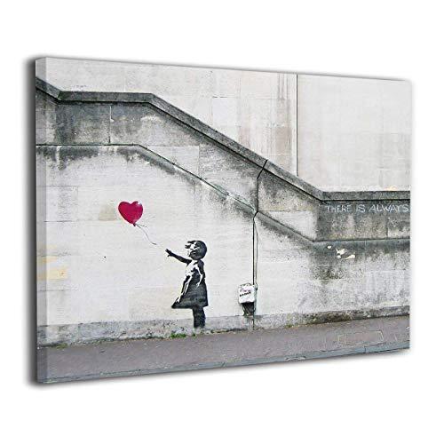 My Life バンクシー 女の子 赤い風船 アートパネル アートフレーム モダン ポスター バンクシー フレーム装飾画 キャンバス絵画 アートボード 部屋飾り 壁の絵 壁掛け ソファの背景絵画 木枠セット(40*50cm)