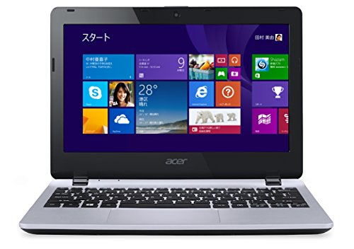 【Amazon.co.jp限定】Acer ノートPC  Aspire E11 (Win8.1withBing(64bit)/11.6インチ/Celeron N2830/2GB/320G/APなし/クールシルバー) E3-111-A12C/S