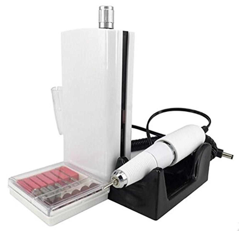 UZMEIマニキュアとペディキュア用具30000RPM 充電式電気ネイルドリルプロフェッショナルまたは家庭用の6pcドリルビット付き