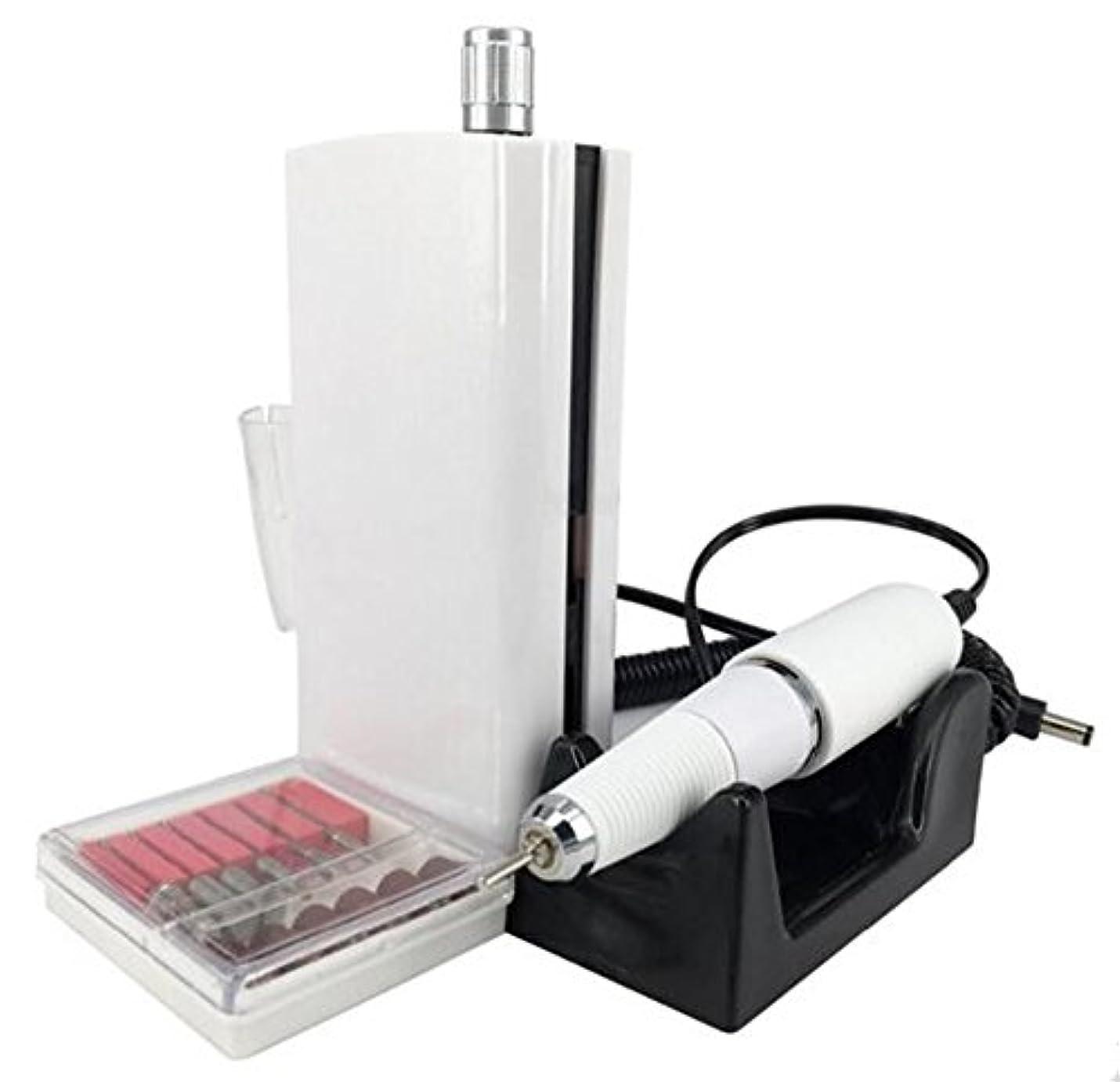 肺存在債務者UZMEIマニキュアとペディキュア用具30000RPM 充電式電気ネイルドリルプロフェッショナルまたは家庭用の6pcドリルビット付き