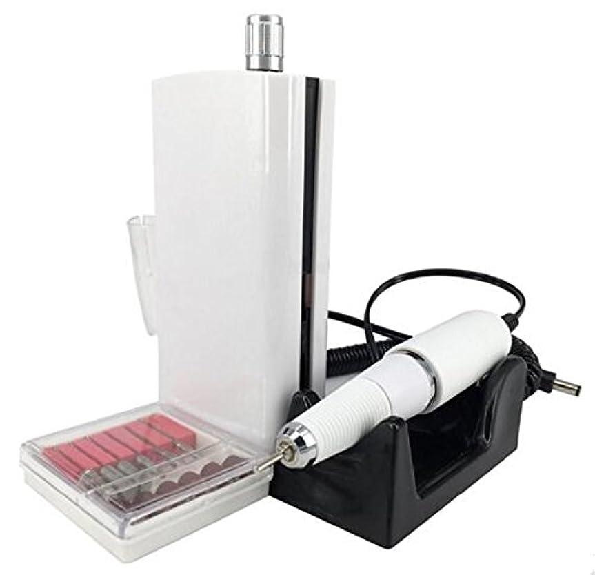 アシスト子孫知恵UZMEIマニキュアとペディキュア用具30000RPM 充電式電気ネイルドリルプロフェッショナルまたは家庭用の6pcドリルビット付き
