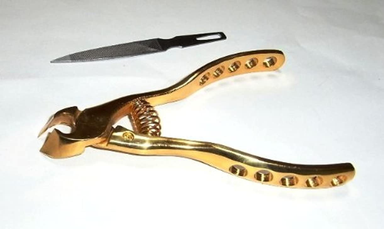 発揮するフェローシップ条件付きプレミアムニッパー爪切(オール純金メッキ)