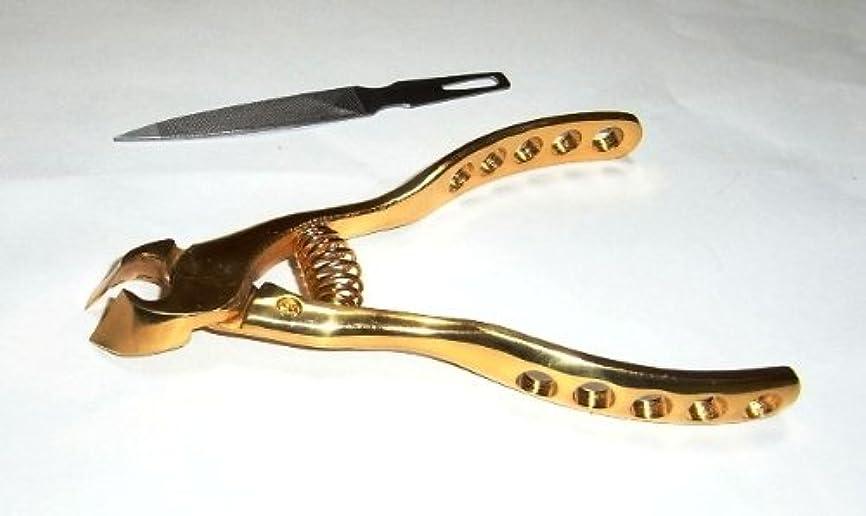 主張薄い平和なプレミアムニッパー爪切(オール純金メッキ)