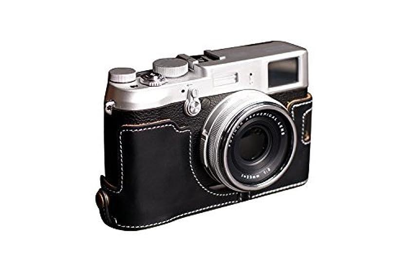 マザーランド中央値優先富士フイルム X100S用本革カメラケース(電池,SDカード交換可) ブラック