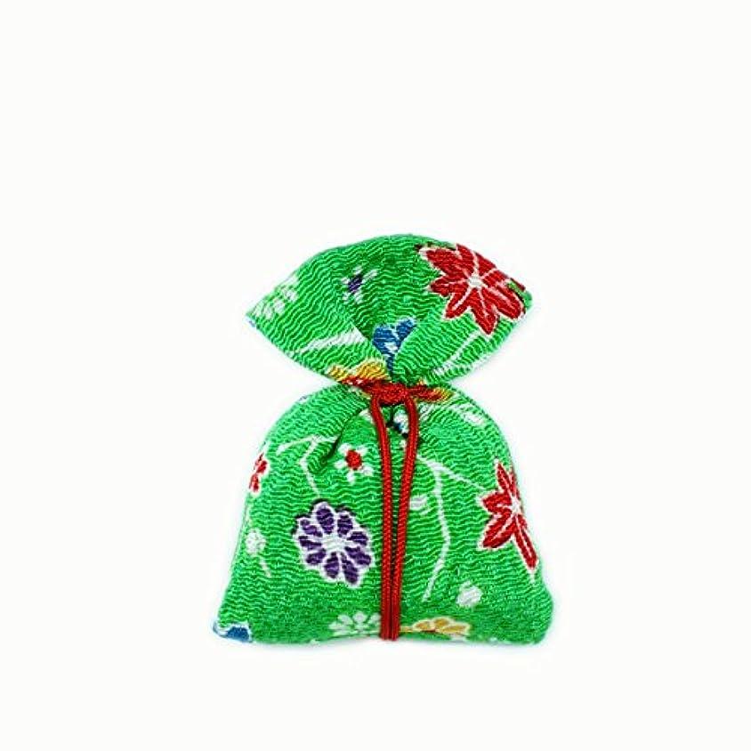 形容詞カロリー二十匂袋 巾着 友禅中 緑系