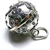 [Silver925]RainbowSpirit神秘模様のガムランボール:ジャワンタイプ(18mm)