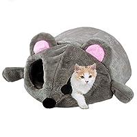 Stheanoo猫ペットベッドトンネル防水グレーデン漫画マウスハウスベッドテントペット巣用品犬小屋