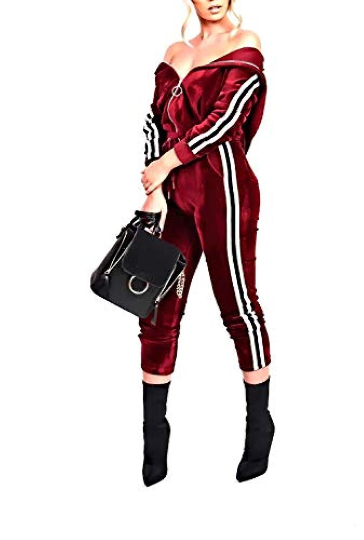 VITryst Womens Pleuche Fleece Individuality Fall Velvet Leisure Workout Jogger Sweatshirt Set