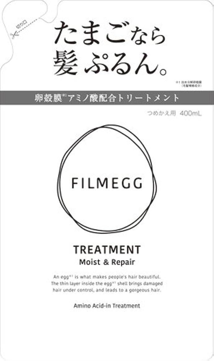 閉塞差し控える建築家FILMEGG(フィルメッグ) トリートメント 詰替え 400ml