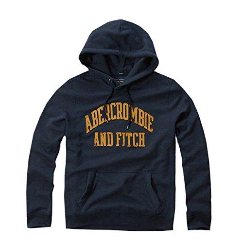 (アバクロンビー & フィッチ) Abercrombie & Fitch パーカー Applique Logo Contrast Hoodie - Navy S [並行輸入品]