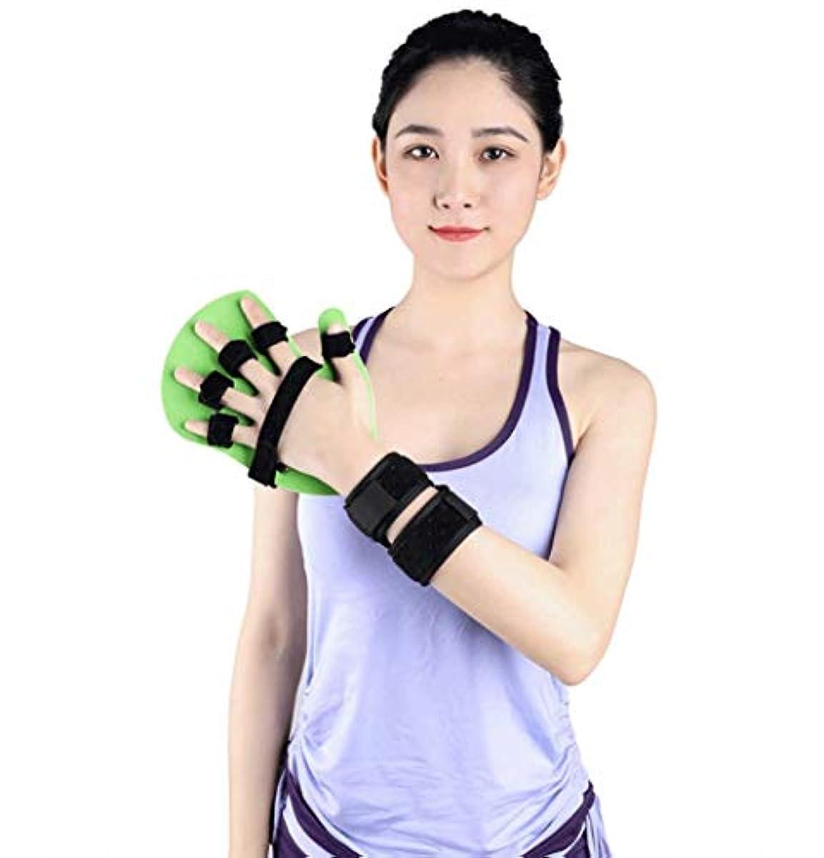 シャベル収容する悲観主義者脳卒中/片麻痺/外傷性脳損傷、左右どちらの手のためのスプリント指指セパレーターフィンガートレーニングDeviceFingerインソール指を指 (Color : Left, Size : L)