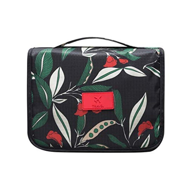 ぼかし航空機ミネラルQukick ハンギングトイレタリーバッグトラベルオーガナイザー化粧品女性のためのバッグケースを作る休暇のためにハンギングフックを持つメンズキット。 (色 : Flower night)