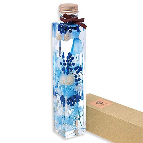 liLYS épice リリスエピス ハーバリウム プリザーブドフラワー プレゼント 歓送迎 卒業祝い ホワイトデー などに kaku-blue 日本製 ラグジュアリー ギフト (マリンブルー)