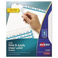 ave11436–AveryインデックスメーカークリアラベルDividers