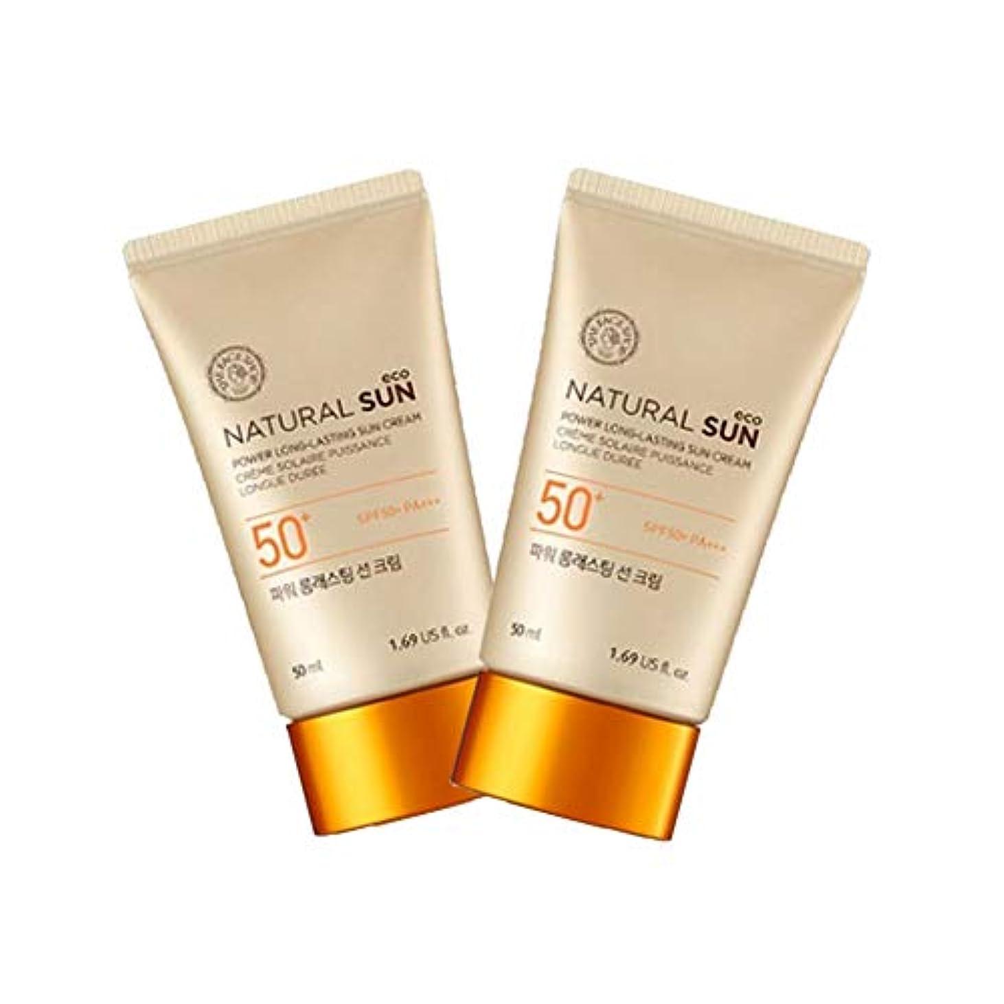 明るくするおびえたフルーツ野菜ザ?フェイスショップナチュラルサンエコパワーロングラスティングサンクリーム50mlx2本セット韓国コスメ、The Face Shop Natural Sun Eco Power Long Lasting Sun Cream 50ml x 2ea Set Korean Cosmetics [並行輸入品]