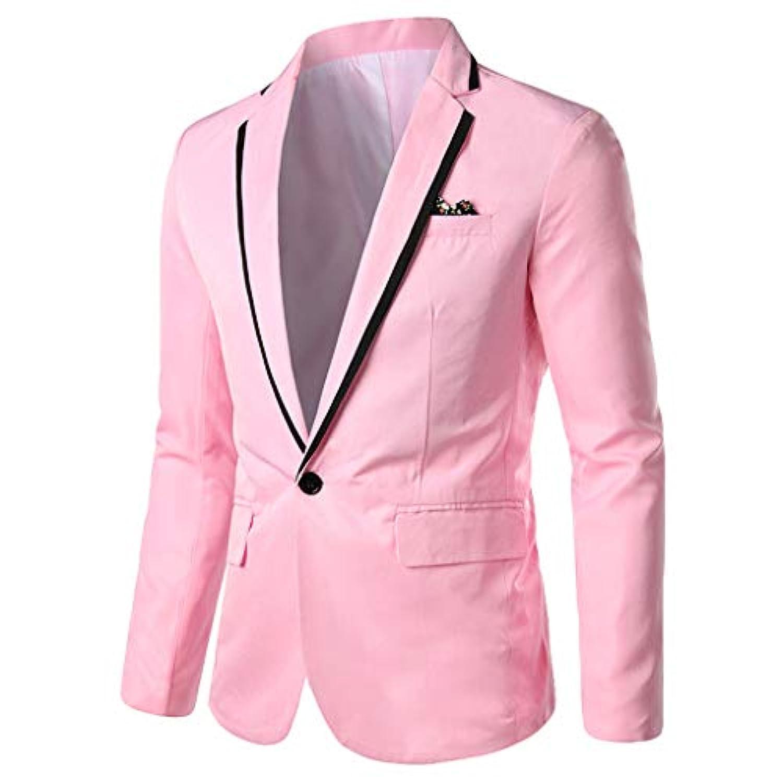 メンズ スタイリッシュ カジュアル ソリッド ブレザー ビジネス ウェディング パーティー アウター コート スーツ トップス 着心地抜群 カジュアル スリム 四季 ファッション 大きいサイズ