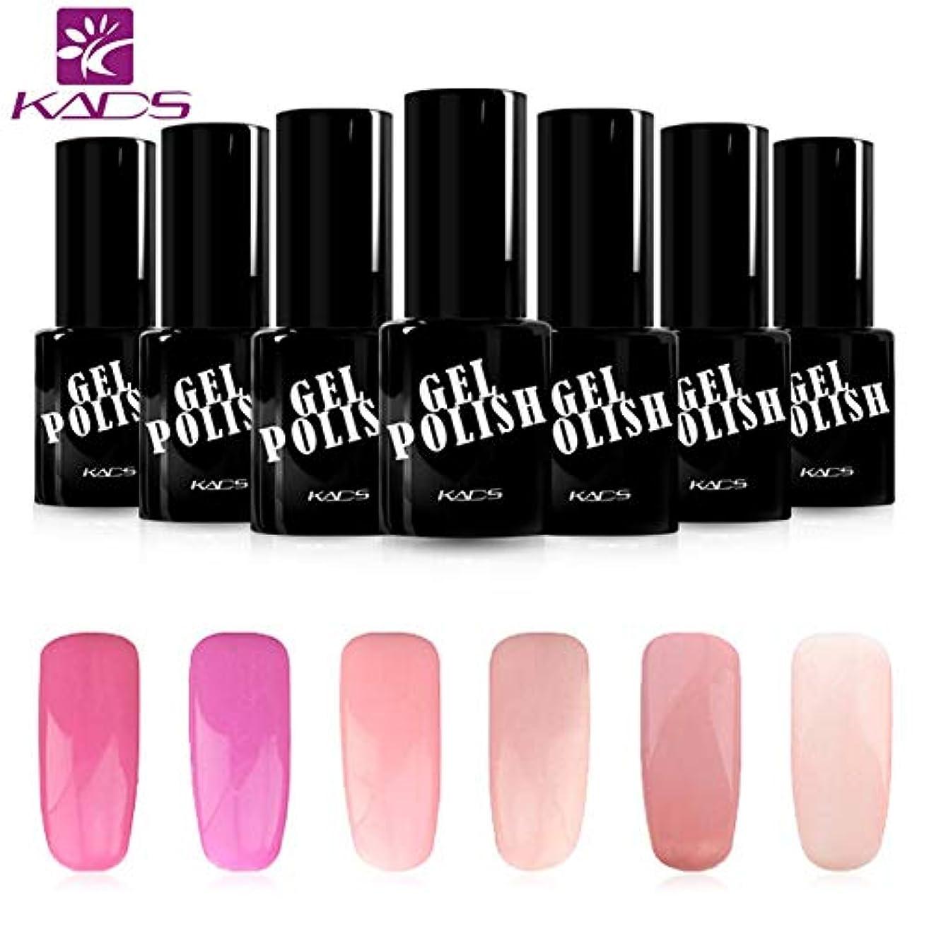 アッパー参加するフィドルKADS ジェルネイルカラーポリッシュ 6ボトルセット 桜の系 ピンク/パープル UV/LED対応 ピンク/パープル系 マニキュアセット (セット1)