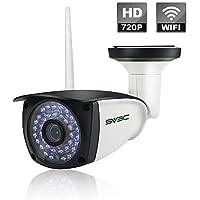 SV3C 720P 防犯カメラ 屋外用 Wifi IPカメラ ネットワークカメラ ワイヤレス 夜間撮影 動体検知機能 遠隔操作対応 IP66防水 SDカード録画 最大128GB対応 ios/Android/Tablets/Windows PC対応