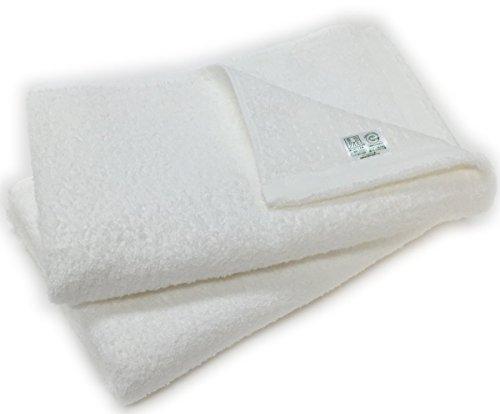 泉州タオル オーガニックコットン バスタオル 2枚組 日本製 (ホワイト2枚)