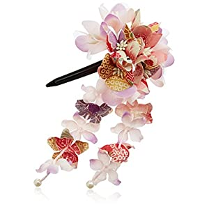 [粋花]Suika和柄髪飾り152 ピンク