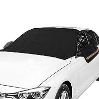 Orgrimmar マグネット式車用フロントガラススノーカバー 凍結防止 耳 雪 氷 霜 UV完全保護
