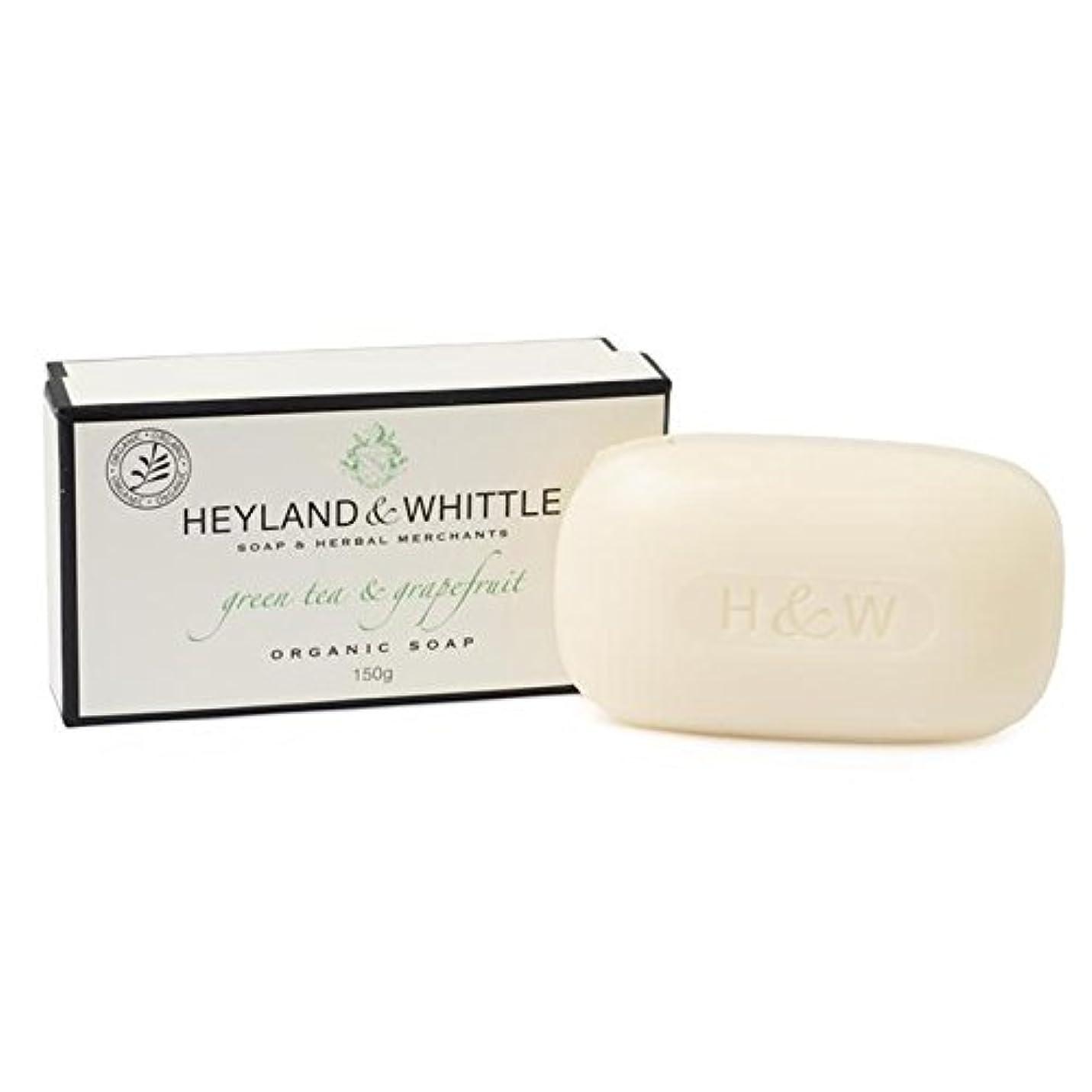 神社強盗ノートHeyland & Whittle Green Tea & Grapefruit Boxed Organic Soap 150g - &削る緑茶&グレープフルーツはオーガニックソープ150グラム箱入り [並行輸入品]